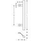 FSB Türgriff 66 6616 Edelstahl fein matt - 550 mm