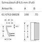 FSB Hohlkammer-Griffstange 61 6763 Aluminium F1