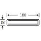 FSB Hohlkammer-Profil 61 6840 Aluminium F1