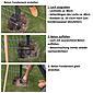 Zaunpfosten + Klemmlasche grün, 60x40x3000, 400 mm