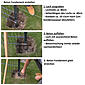 Eckpfosten + Klemmlasche anth, 60x60x1200, 400 mm