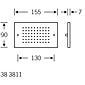 FSB Sprechplatte 38 3811 Edelstahl unsichtb. Bef.