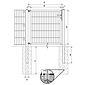 GAH Stabgitter Einzeltor FLEXO fvz 1250 x 1400 mm
