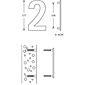 """FSB Hausnummer 38 4005 Ziffer """"2"""" Edelstahl"""