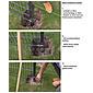 GAH Stabgitter Einzeltor FLEXO grün 2000 x 800 mm