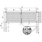 GAH Stabgitter Doppeltor FLEXO fvz 3500 x 1000 mm