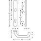 FSB Balkontürdrückergarnitur 06 7816 Aluminium F1