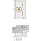 ABUS FTS96 B AL0089 Fenster-Zusatzschloss, braun