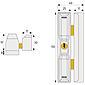 ABUS DF88 W AL0125  Dach-Fensterschloss weiß