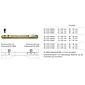 Stabilstift 8x120 mm für Türstärke 56-75 mm
