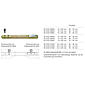 FSB Stabilstift 8x140 mm für Türstärke 76-95 mm