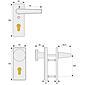 Abus KKT512 F1 EK Schutzbeschlag, aluminium