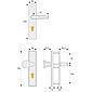 ABUS HLT612 F1 EK Schutzbeschlag, aluminium