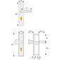ABUS HLT612 F2 EK Schutzbeschlag, neusilber