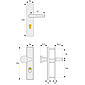 ABUS HLZS814 F1 EK eckig Schutzbeschlag, aluminium