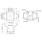 Axis T94R01B Eckmontagewinkel für T91E61 Wandarm