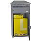 Safepost 95 LED Paketbriefkasten silbergrau