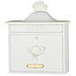Heibi Briefkasten Trako 64056-008 Weiß / Gold