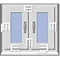 EM3 Riegel weiss Fenstersicherung - 4er Set