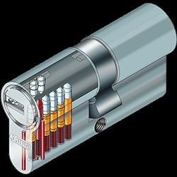 Abus EC550 Schließzylinder Sicherheit Aufbaubild