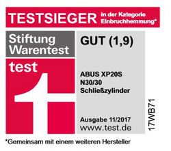 Stiftungwarentest Testsieger 1,9 XP20S Abusschließzylinder