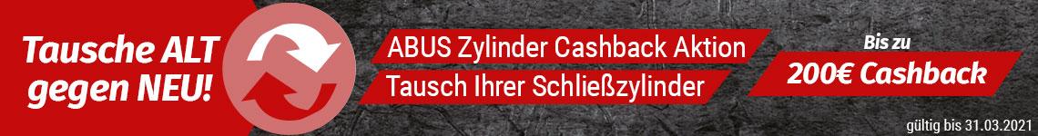 ABUS Zylinder Cashback Aktion