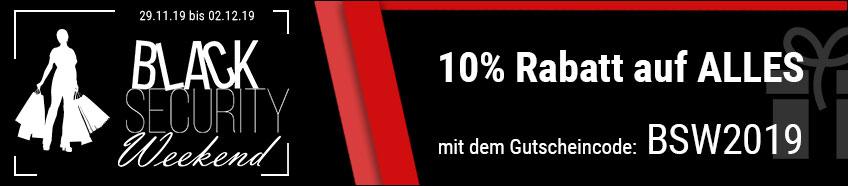 Black Security Weekend - 10% Rabatt