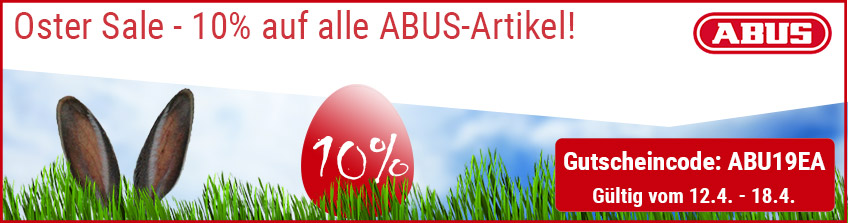 Oster Sale - 10% Rabatt auf alle ABUS-Artikel