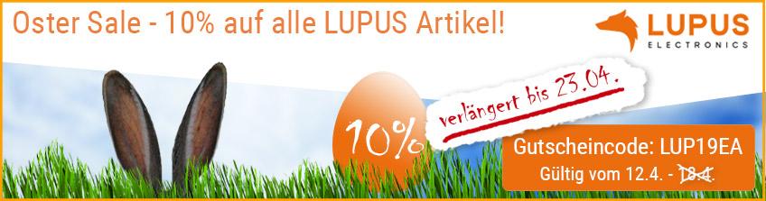 Oster Sale - 10% Rabatt auf alle LUPUS-Artikel